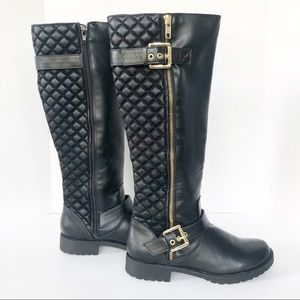 Penny Loves Kenny Dallas Mototcycle Quilted Boots